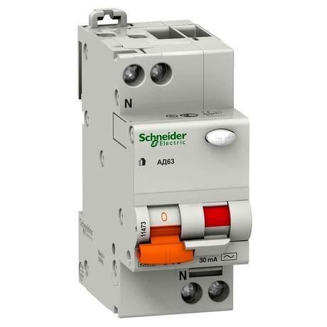 Дифавтомат Schneider Electric Домовой 2P 25А (C) 4.5кА 30мА (AC)