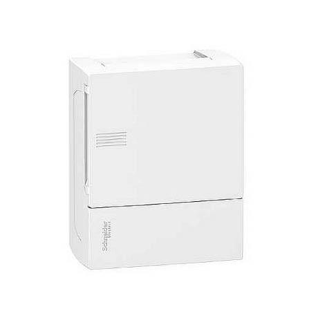 Розподільна шафа Schneider Electric MINI PRAGMA, 6 мод., IP40, навісна, пластик, білі двері, з клемами