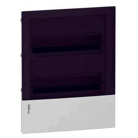 Розподільна шафа Schneider Electric MINI PRAGMA 24 мод., IP40, вбудована, пластик, димчасті двері, з клемами