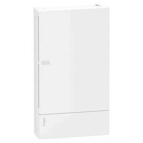 Розподільна шафа Schneider Electric MINI PRAGMA 36 мод., IP40, вбудована, пластик, білі двері, з клемами