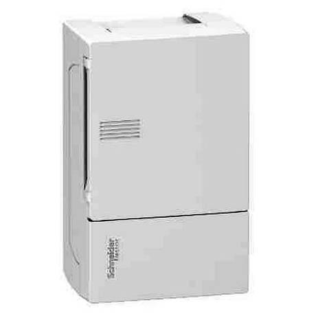 Распределительный шкаф Schneider Electric MINI PRAGMA, 4 мод., IP40, навесной, пластик, белая дверь, с клеммами