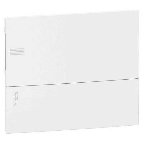 Распределительный шкаф Schneider Electric MINI PRAGMA 12 мод., IP40, встраиваемый, пластик, белая дверь, с клеммами