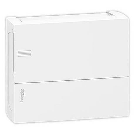 Распределительный шкаф Schneider Electric MINI PRAGMA, 12 мод., IP40, навесной, пластик, белая дверь, с клеммами