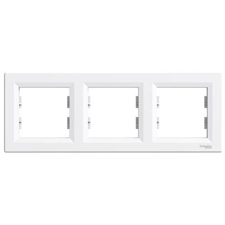 Рамка Schneider-Electric Asfora 3-постовая горизонтальная белая