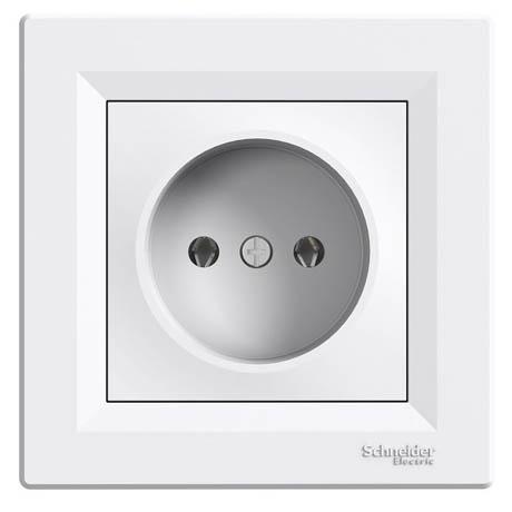 Розетка Schneider-Electric Asfora без заземления белая