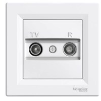 Розетка Schneider-Electric Asfora TV / R кінцева (1 дБ) біла