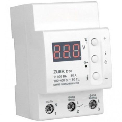 Реле контроля напряжения DS Electronics ZUBR 50A