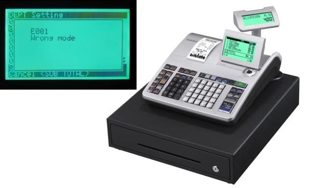 Cara Mengatasi Kode Error CASIO SE-S400
