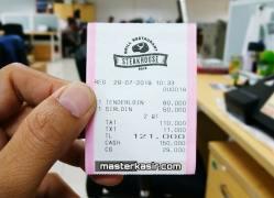 Contoh Struk Pembayaran Pajak Mesin Kasir Casio SE-S400 dan SR-S500
