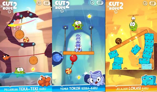 Game  Offline Android Terbaik Cut the rope