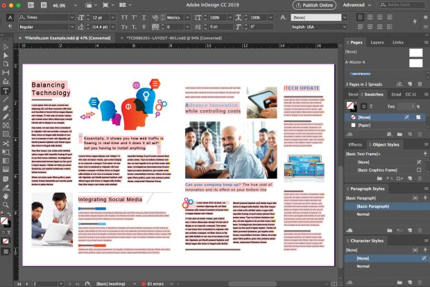 Adobe InDesign CC 2019 Registration key Full Version