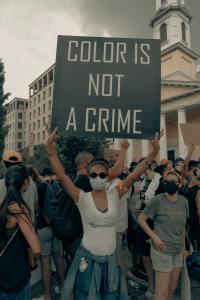 Stop racisme - La couleur n'est pas un crime. Contre les discriminations