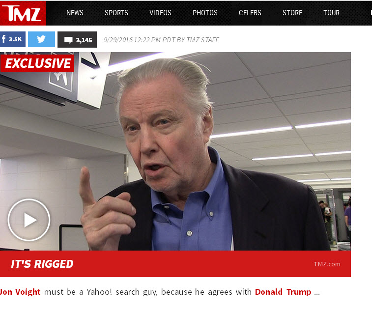 SEO News From TMZ??? Actor Jon Voit Says Google Is Sabotaging Trump's Campaign