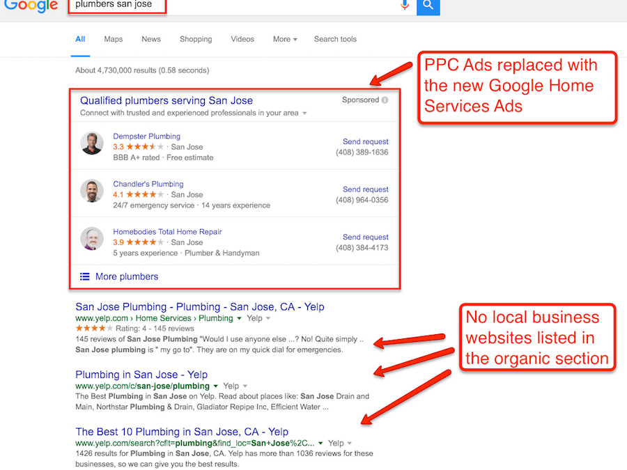 Google Home Service Ads Disrupting PPC And Organic Listings