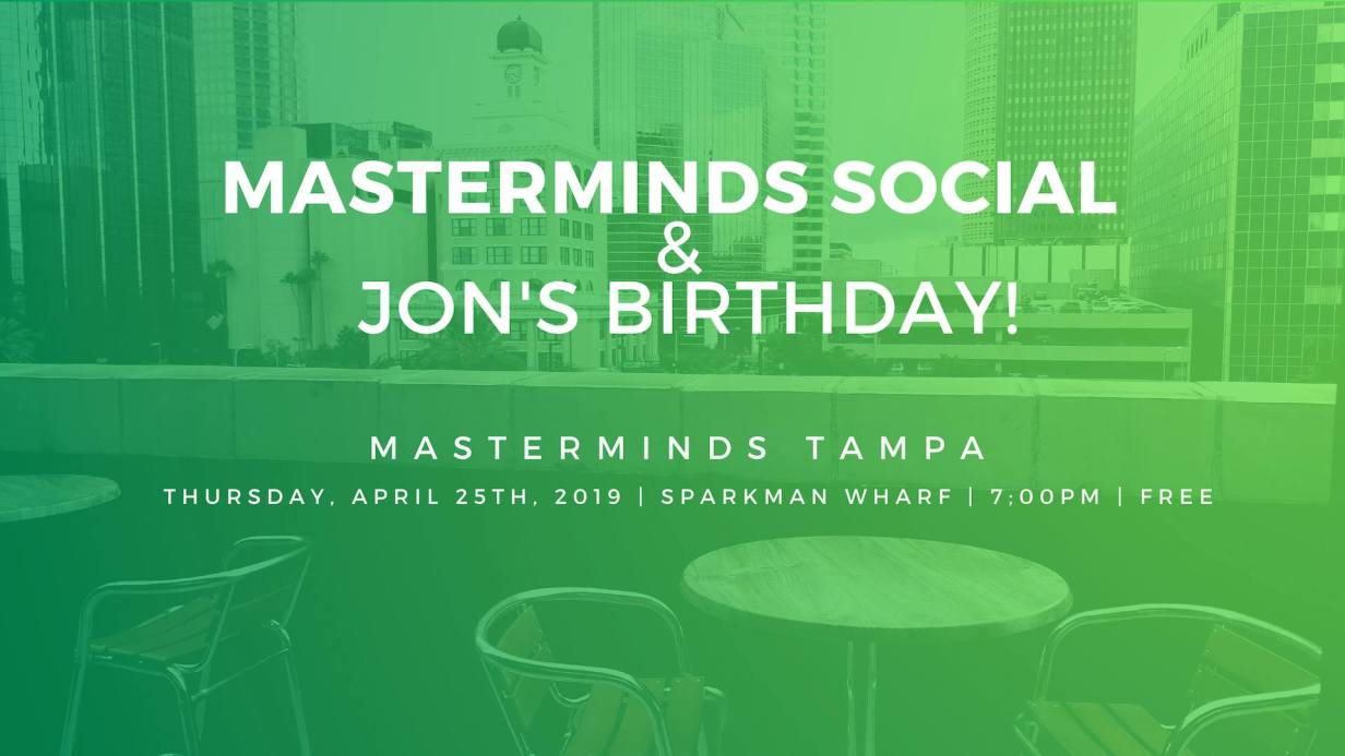 Masterminds Tampa: Where Founders & Marketers Talk Growth, Biz and Tech