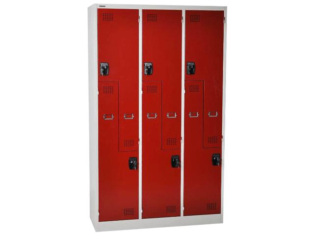 armoire metal vestiaire 6 portes cc l3 1850 900 450 tole 6 noire