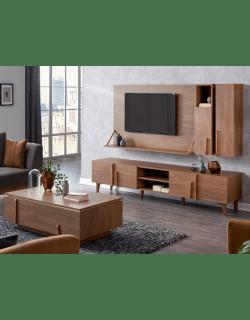 meuble tv carpinus u360408 02 tables basses 02 tables coin marron