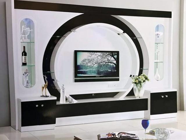 meuble tv ref d 321 noir blanc
