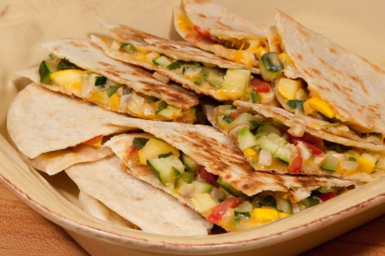 Vegetable-quesadillas