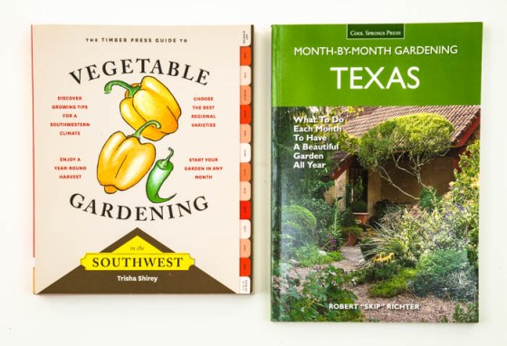 Trisha Shirey's Vegetable Gardening in the Southwest and Skip Richter's Texas Month-by-Month Gardening are great gist ideas for organic-minded gardeners in Texas