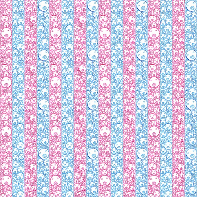 Faces_Stripes wallpaper3