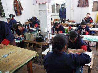 Textiles at the Art & Craft School in Thimphu