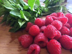 Mint and raspberries!