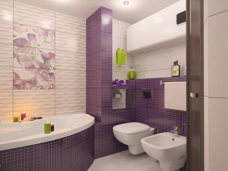 дизайн ванной комнаты совмещенной с туалетом 3