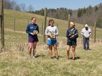 Top 3 Overall Women: Rebecca Adcock, Aimee Wild, and Alice Mountcasel