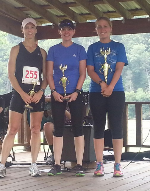 Tammy Kypers 2:36:54, Janice Bowman 2:33:02, Mikayla Ford 2:29:11