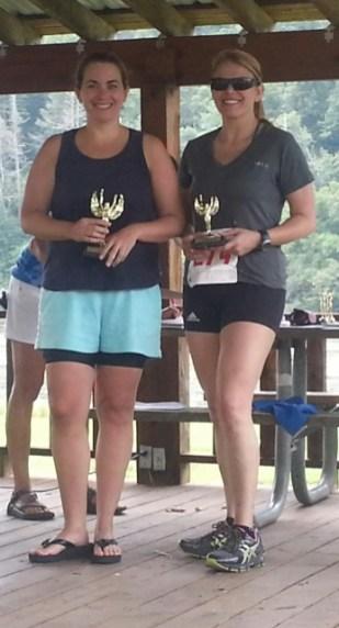 Jill Cockerham 1st place 30-39 age group and 2nd place Sandy Jones