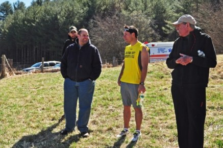 Matthew Patton and Lee Felts from Baywood Rescue Squad, Brad Chambers, and Mike Hutchison