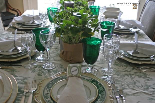 St Patricks celebaration tablescape6