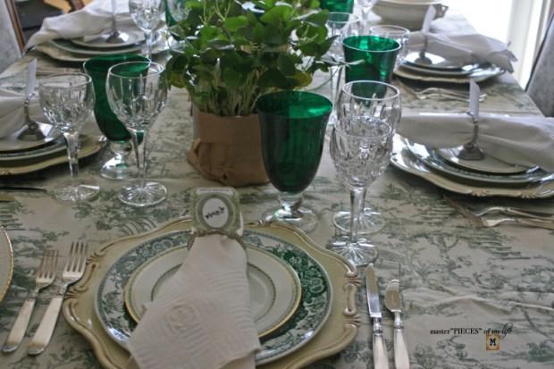 St Patricks celebaration tablescape9