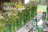 Spring fling tablescape