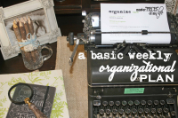 Basic weekly organizational plan