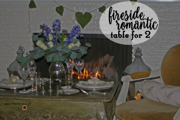 Fireside romantic table 4 two