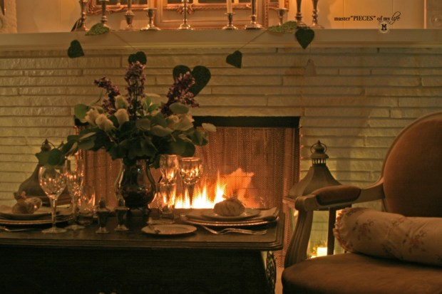 Fireside romantic table 4 two 10
