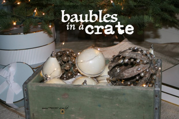 Baubles in a crate