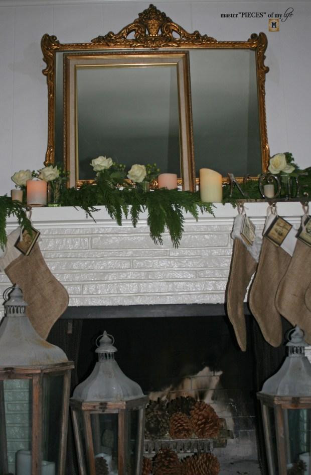 A christmas mantel 3