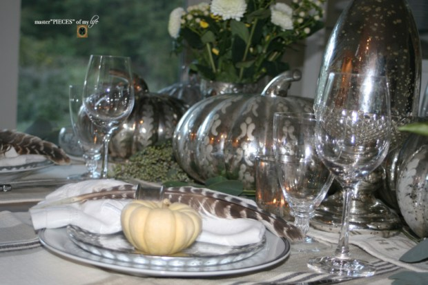 Mercury glass friendsgiving tablescape6