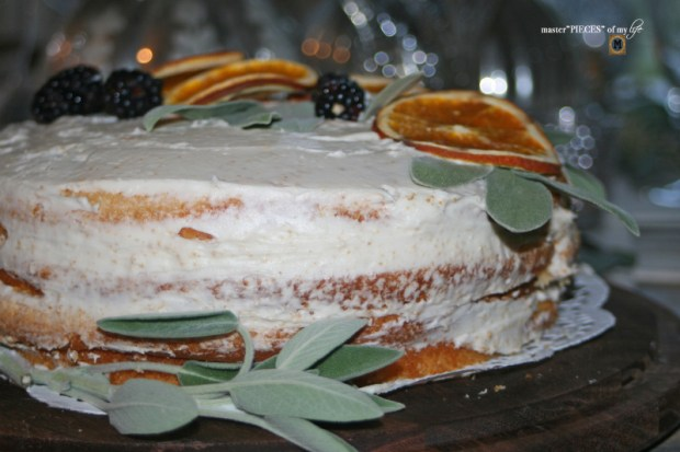 On the menu - orange  naked cake3