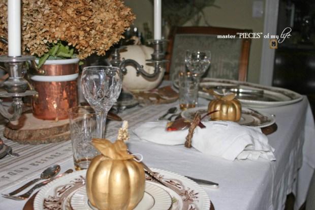 Thanksgiving tablescape mixed metals11