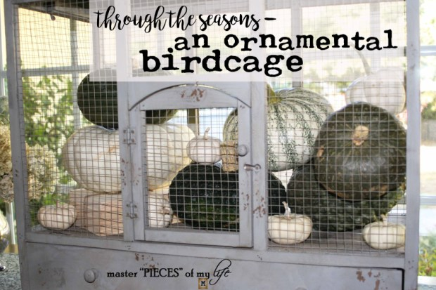 Thru the seasons - ornamental birdcage