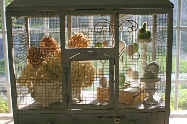 Thru the seasons - ornamental birdcage 13