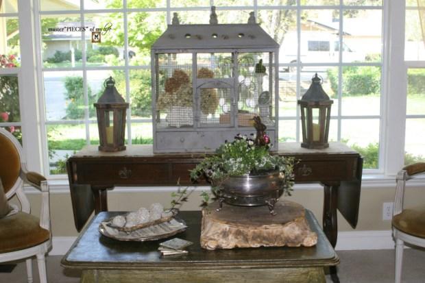 Thru the seasons - ornamental birdcage 14