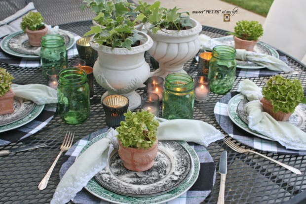 Last day of summer garden tablescape 2