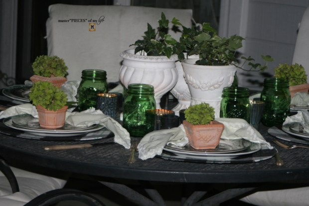 Last day of summer garden tablescape 12