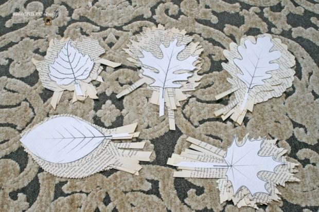 Bookprint leaf garland 5