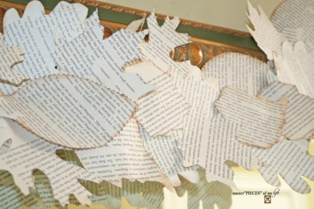 Bookprint leaf garland 6